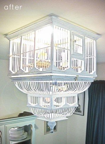 jaula lámpara después