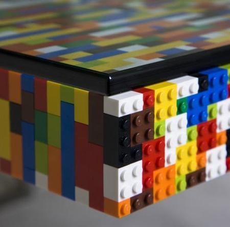 mesa piezas lego detalle