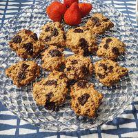 Receta de galletas de avena y chocolate sin azúcar