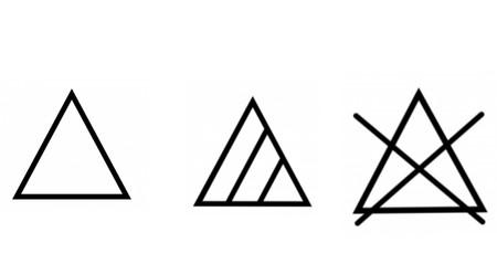 Símbolos de lavado en prendas de ropa