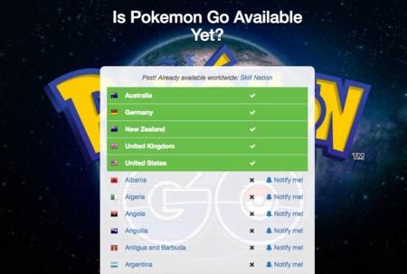 ¿Está Pokémon Go disponible ya en mi país? Esta web te lo dice