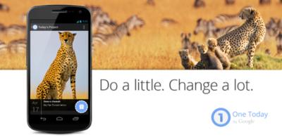 Google lanza One Today en EEUU, una aplicación para hacer donaciones a proyectos humanitarios