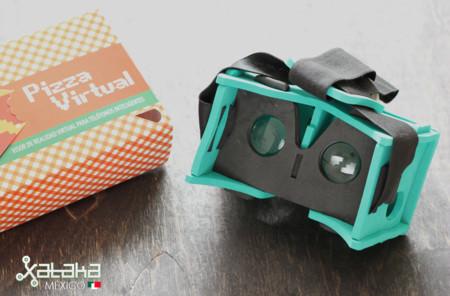 Pizza Virtual, un visor de realidad virtual ligero, económico y duradero hecho en México