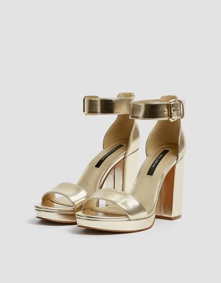 Sandalias Zapatos Dorados