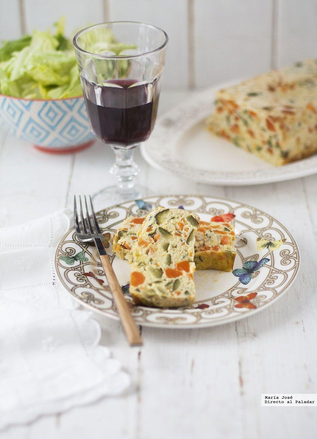 Plum-cake de verduras: receta con y sin Thermomix para una cena estupenda
