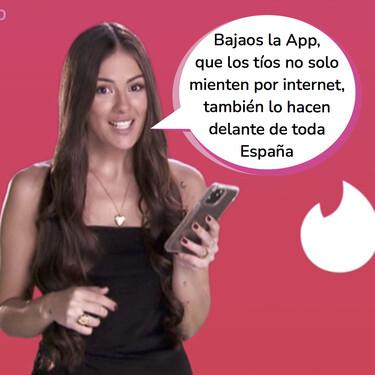 Melyssa Pinto reaparece en televisión como embajadora de Tinder durante el estreno de 'La Isla de las Tentaciones 3'