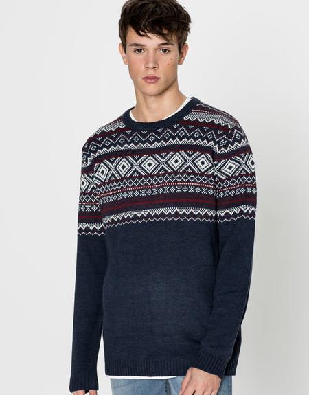 Suéter en Jacquard, de Bershka