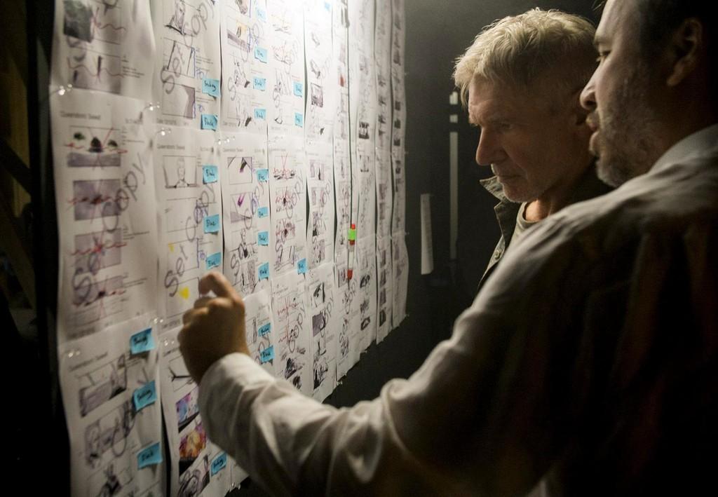 Villeneuve habla de los storyboards con Harrison Ford