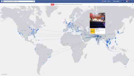 Con este mapa interactivo puedes ver todos los vídeos públicos en directo de Facebook