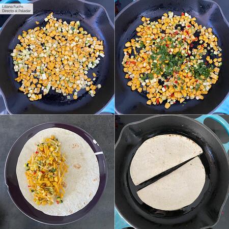 Quesadillas Maiz Calabacin Pasos