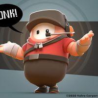 El mítico Scout de Team Fortress 2 se une a las pruebas de Fall Guys en forma de skin especial