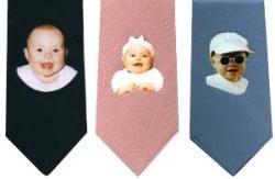 Corbatas con la foto de tu bebé
