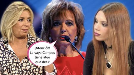 La yaya Campos rompe su silencio y se posiciona en el conflicto entre Carmen Borrego y Alejandra Rubio