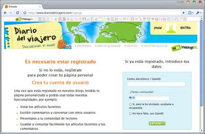 Registrarse en Diario del Viajero ahora es más fácil y rápido