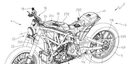 Así es la patente de la Indian FTR1200 y ¡es mejor que el prototipo de 2017!