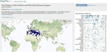 Google Ancient Places, referencias de destinos en libros históricos ubicados en un mapa