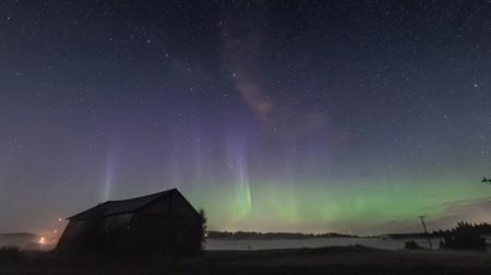Las auroras boreales llenan de magia el cielo del otoño