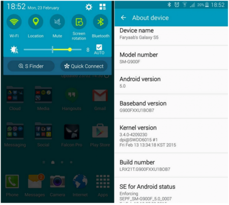 Samsung regresa el botón de silencio en la última actualización de software Galaxy S5