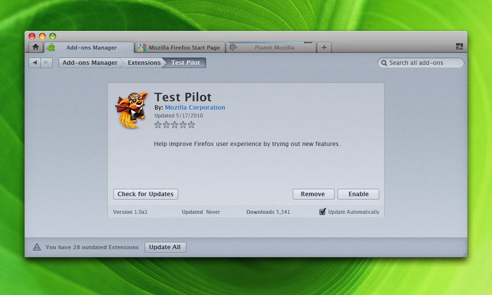 Mockups de Firefox 4