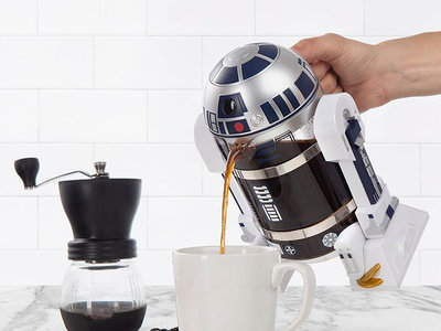 Coffe Press R2-D2, la cafetera ideal para fanáticos de Star Wars