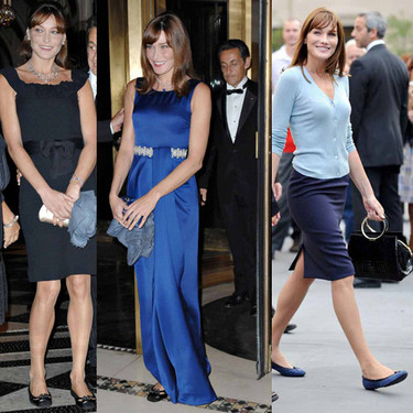 Carla Bruni pisa con zapatos Tod's