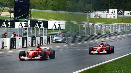 Schumacher Barrichello Austria F1 2002