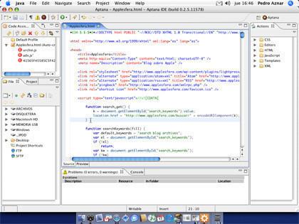 Aptana: Entorno de desarrollo web open-source
