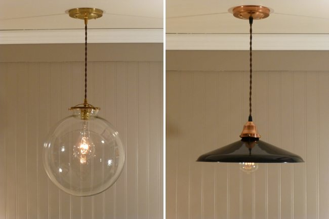 Lámparas vintage de cobre - 1