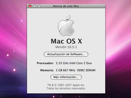 Ya está aquí la primera actualización de Leopard: Mac OS X 10.5.1