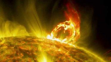 Nuevas imágenes de una erupción solar son captadas por la NASA
