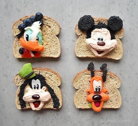 Madre Hace Obras De Arte Infantiles Con Comida Saludable Hijos Pluto
