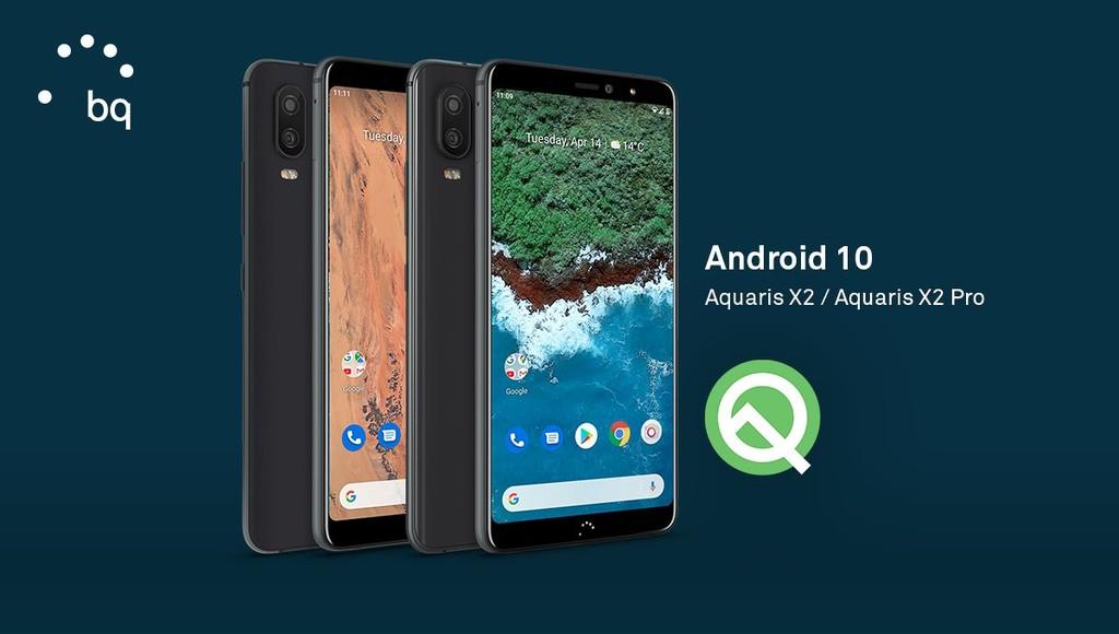 Los BQ Aquaris X2 y X2 Pro empiezan a obteber la actualización a Android-OS 10