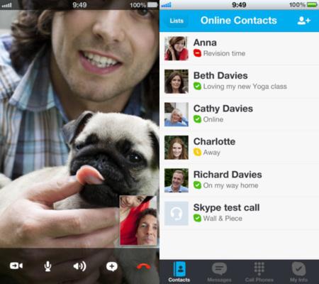 Skype para iOS se actualiza con soporte para la pantalla del iPhone 5