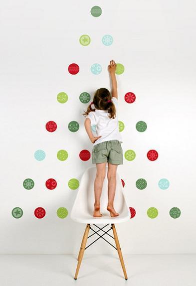Navidad: árbol adhesivo