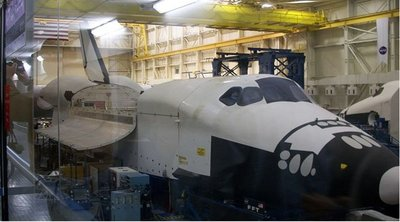 Trasbordador espacial en el Museo del vuelo de Seattle