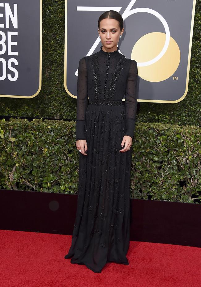 Alicia Vikander Louis Vuitton Globos De Oro 2018