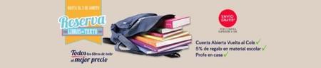 La promoción de El Corte Inglés de reserva libros de texto por un curso más fácil