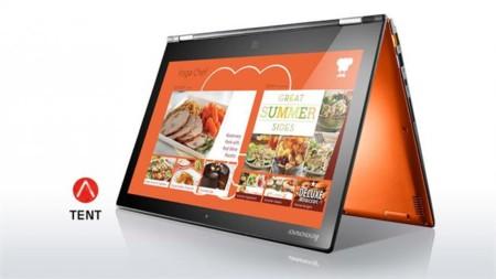 Lenovo Laptop Convertible Yoga 2 Pro Orange Tent Mode 3