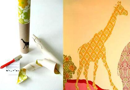 INKE recycled wallpaper: animales reciclados en tus paredes