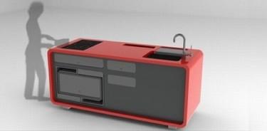 Cucino compacto, otra mini cocina de diseño y sostenible