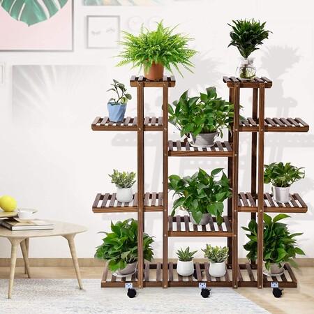 Haz que tu casa o tu terraza parezcan un jardín con estos soportes para macetas