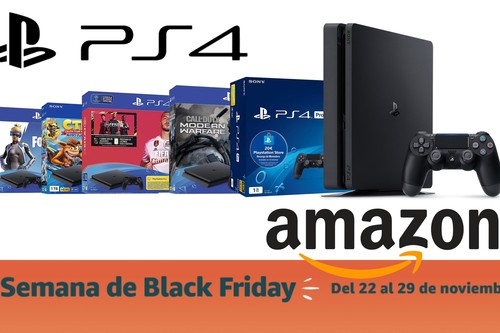 Black Friday 2019: packs PS4 rebajados en Amazon. La consola de Sony, más barata que nunca