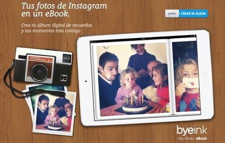 Con Byeink puedes crear un ebook con tus fotos de Instagram de forma gratuita