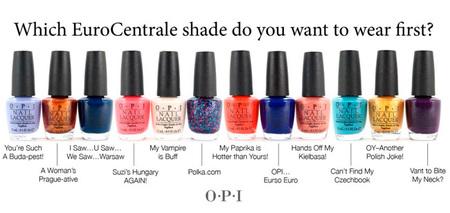 OPI presenta EuroCentrale, su nueva colección de esmaltes de uñas