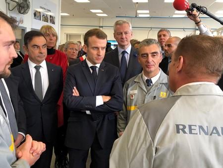Ghosn y Macron