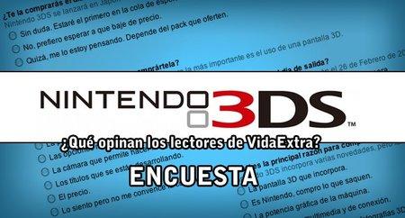 Nintendo 3DS. ¿Qué opinan los lectores de VidaExtra? Cerramos encuesta.