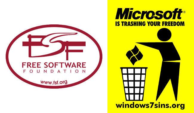 FSF y Microsoft tira tu libertad