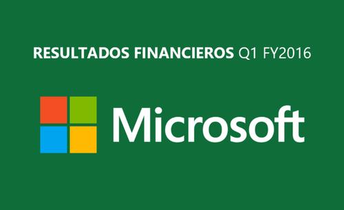 Resultados financieros de Microsoft: Nube al alza, Lumia a la baja y Bing por fin es rentable [Q1 FY2016]