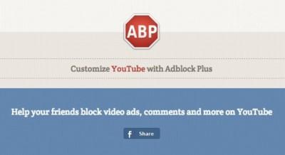 """AdBlock Plus aprovecha el tirón y lanza soluciones para """"quitar las molestias"""" de YouTube"""