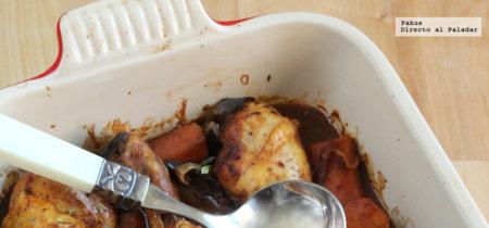 Muslos de pollo al horno en bolsa de asar. Receta fácil y rápida